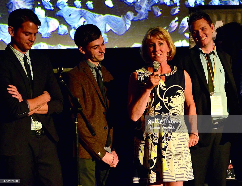 Documentary film subject Dawn Brown speaks onstage at the 'A New High' and 'Hotel 22' screenings during the 2015 Los Angeles Film Festival at Regal Cinemas L.A. Live on June 14, 2015 in Los Angeles, California.