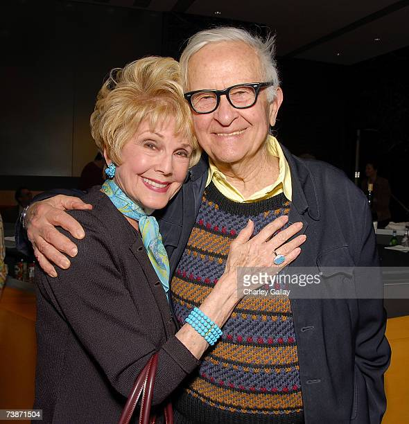 Documentary Filmmaker Albert Maysles and Karen Kramer attend a reception before Mr Maysles was the featured guest at the Academy of Motion Pictures...