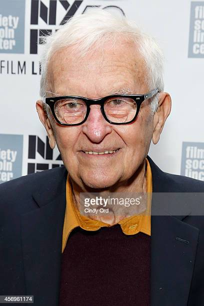 Documentary filmmaker Albert Maysles attends the Iris photo call during the 52nd New York Film Festival at Walter Reade Theater on October 9 2014 in...