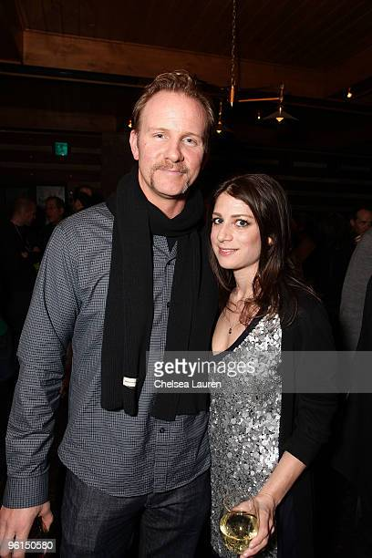 Documentary Filmmaker Morgan Spurlock and VP of HBO Documentary Films Sara Bernstein attend the HBO Docs party on January 24 2010 in Park City Utah
