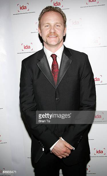 Documentary filmmaker Morgan Spurlock arrives at the 24th Annual International Documentary Association Awards Ceremony at the Director's Guild of...