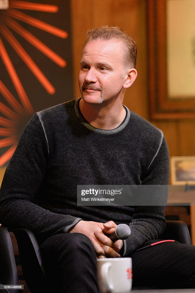 Documentary filmmaker Morgan Spurlock speaks at the Cinema Cafe during 2016 Sundance Film Festival at Filmmaker Lodge on January 23, 2016 in Park City, Utah.