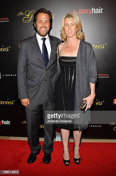 Documentary filmmaker Rory Kennedy and her husband Mark Bailey arrive at the 38th Annual Gracie Awards Gala at The Beverly Hilton Hotel on May 21...