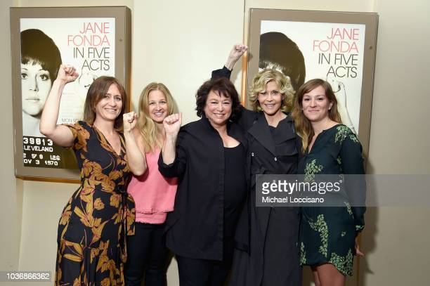 Documentary Films EVP cohead Lisa Heller speaks onstage during the New York premiere of the HBO documentary film 'Jane Fonda In Five Acts' at the HBO...