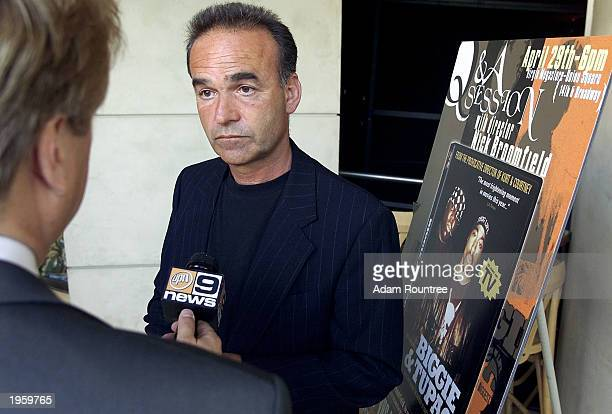 Documentary maker Nick Broomfield holds a Q A session to promote his film 'Biggie Tupac' about the unsolved murders of rap artists Notorious BIG and...