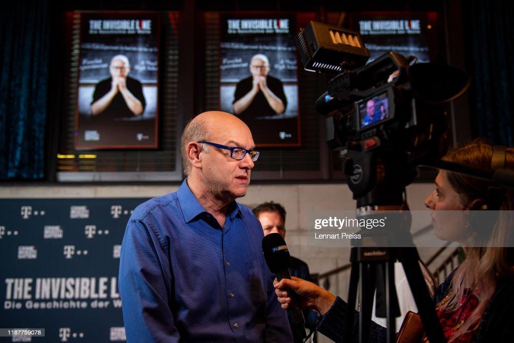 """World Premiere Of Crime + Investigation Documentary """"The Invisible Line - Die Geschichte der Welle"""" In Munich : News Photo"""