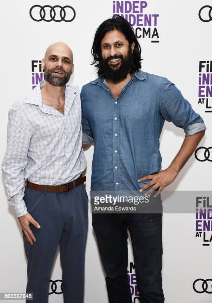 Documentary subject Adrian Ojeda and director Vikram Gandhi attend the Film Independent at LACMA Special Screening of '11/8/16' at the Bing Theatre...