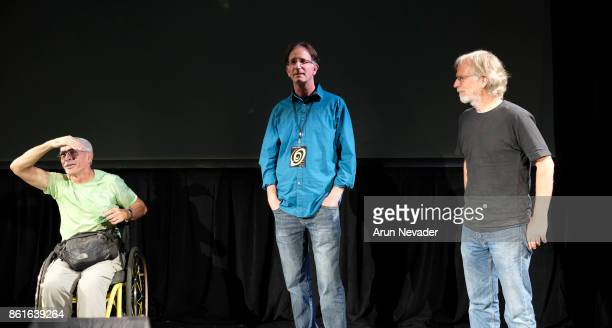 Documentary subject Bob Coomber director Tal Skoot and composer Barry Phillips lead Q and A after the screening of their film 4 Wheel Bob at the...