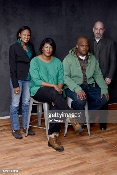 Documentary subject Brandy Alexander director Dawn Porter documentary subject Travis Williams and Founder and CEO of the Southern Public Defender...