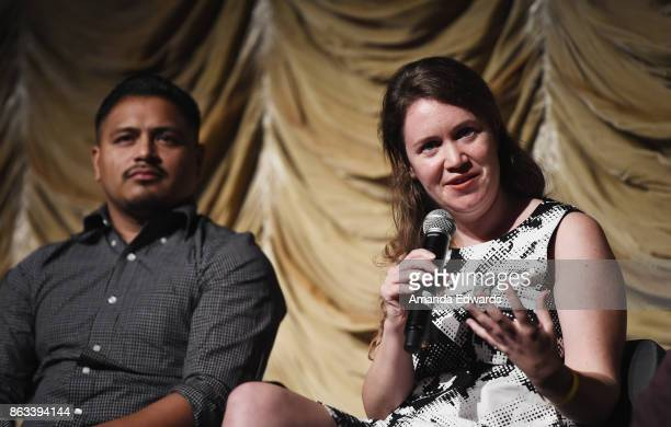 Documentary subject Jesus Ruiz and director Martha Shane attend the Film Independent at LACMA Special Screening of 11/8/16 at the Bing Theatre At...