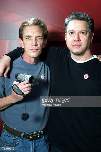 Documentary subject Rick Kirkham and director Michael Cain appear on AOL Unscripted at the Meyer Gallery during the Sundance Film Festival on January...