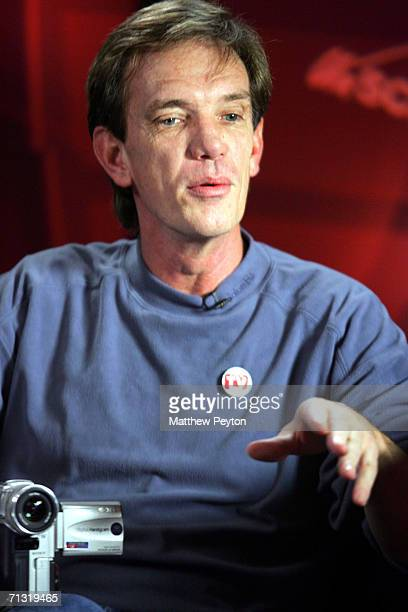 Documentary subject Rick Kirkham appears on AOL Unscripted Session at the Meyer Gallery during the Sundance Film Festival on January 23 2006 in Park...