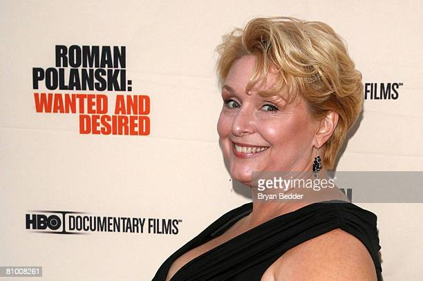 Documentary subject Samantha Geimer arrives at the premiere of 'Roman Polanski Wanted And Desired' at the Paris Theatre on May 6 2008 in New York City