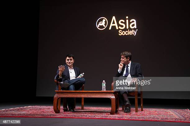 'Documented' Writer and Director Jose Antonio Vargas and the Executive Vice President of the Asian Society Tom Nagorski during a Special Screening Of...