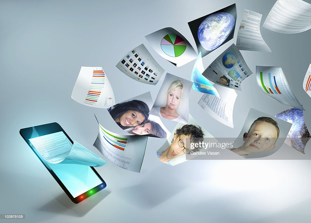 Documents and Tablet computer : Stockfoto
