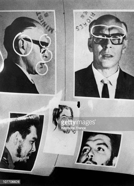 Documents Provided For Regis Debray'S Case In Camiri Up 2 Pictures Of Che Guevara'S Passport With The Name Of Adolfo Mena Gonzales At The Time Of His...