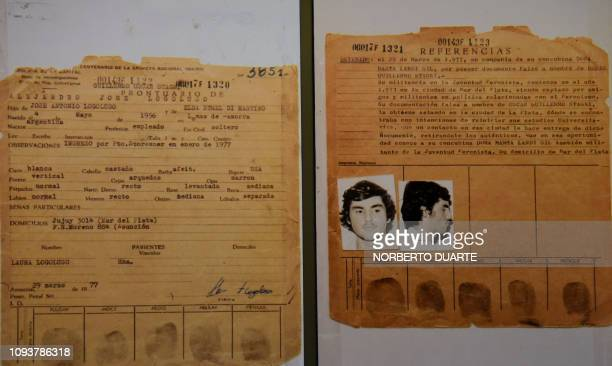 Documents that form part of the 'Archives of Terror' are seen at the Documentation and Archive Center for Human Rights Defense at the Justice Palace...