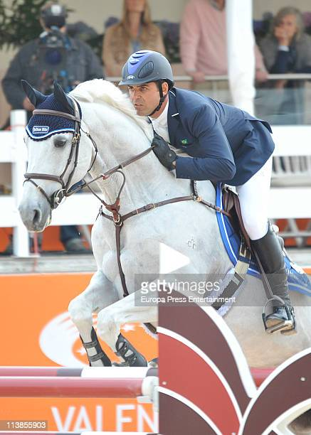 Doda Miranda jumps during the Global Champions Tour 2011 on May 8 2011 in Valencia Spain