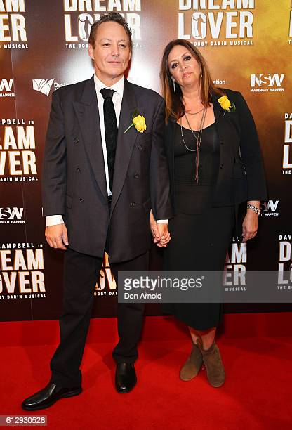 Dodd Darin and Audrey Tannenbaum arrive ahead of the premiere of Dream Lover The Bobby Darin Musical at Lyric Theatre Star City on October 6 2016 in...