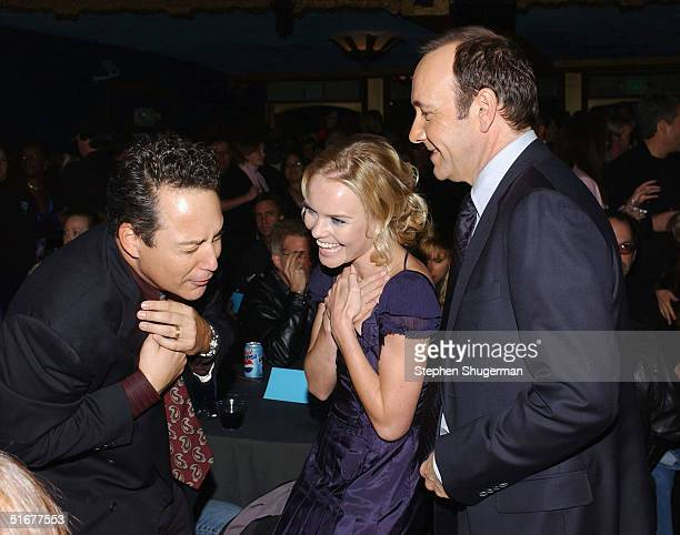 Dodd Darin son of singer Bobby Darin actress Kate Bosworth and actor Kevin Spacey attend the after party following the opening night of AFI Fest and...