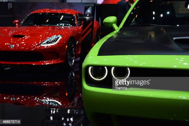 Dodge Challenger and Viper on the motor show