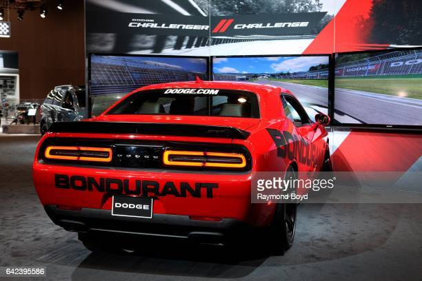 Dodge Challenger, during the Dodge Challenge at the 109th Annual Chicago Auto Show at McCormick Place in Chicago, Illinois on February 9, 2017.