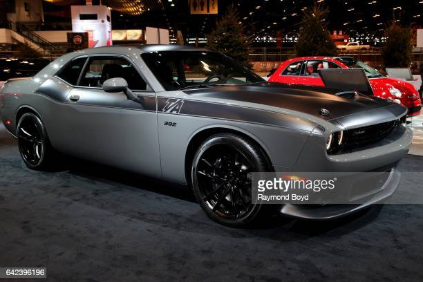 Dodge Challenger is on display at the 109th Annual Chicago Auto Show at McCormick Place in Chicago Illinois on February 9 2017