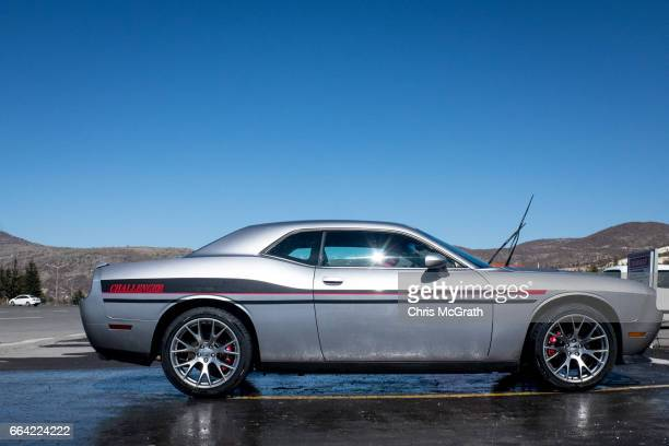 Dodge Challenger is seen at a car wash at a highway rest stop on the road outside Ankara on April 3 2017 outside Ankara Turkey The capital Ankara is...