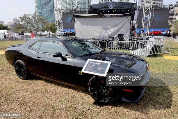 Dodge Challenger on display during Universal Pictures presents The Road to F9 Concert and Trailer Drop on January 31, 2020 in Miami Beach, Florida.