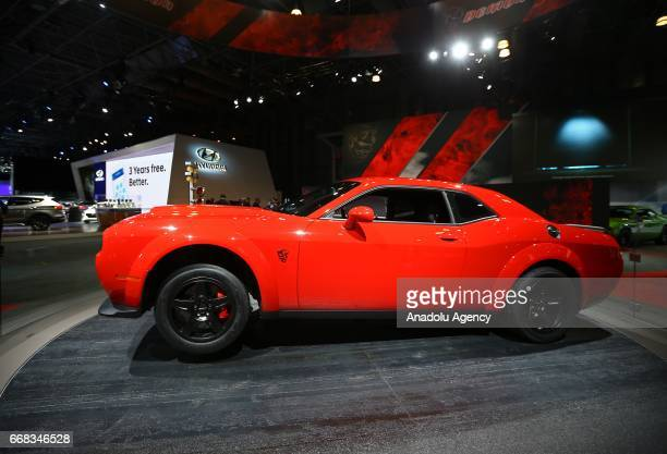 Dodge Challenger SRT Demon is displayed at the New York International Auto Show in New York City United States on April 13 2017