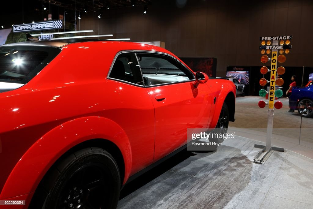 Dodge Challenger SRT Demon is on display at the 110th Annual Chicago Auto Show at McCormick Place in Chicago, Illinois on February 9, 2018.