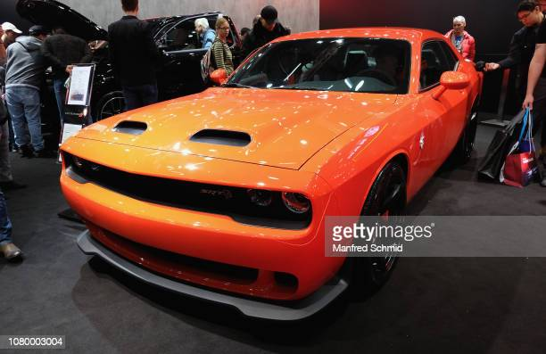 Dodge Charger is displayed during the Vienna Autoshow as part of Vienna Holiday Fair on January 10 2019 in Vienna Austria The Vienna Autoshow will be...