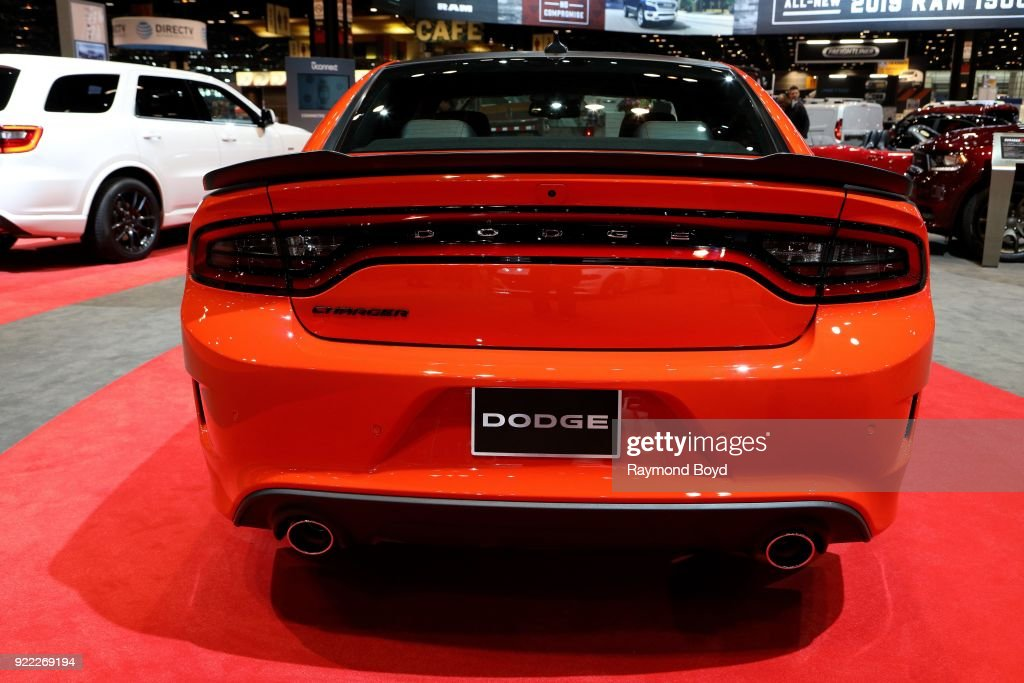 Dodge Charger is on display at the 110th Annual Chicago Auto Show at McCormick Place in Chicago, Illinois on February 9, 2018.