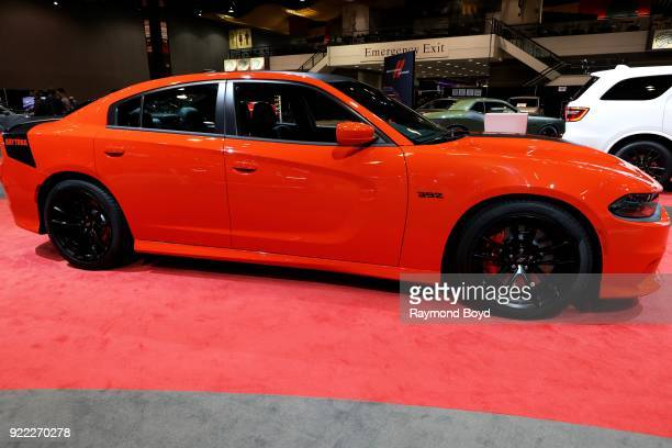 Dodge Charger is on display at the 110th Annual Chicago Auto Show at McCormick Place in Chicago Illinois on February 9 2018