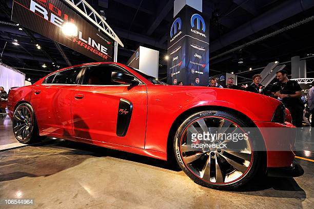 Dodge Charger R/T Redline is on display at the 2010 Specialty Equipment Market Association trade show in Las Vegas Nevada November 4 2010 The Redline...
