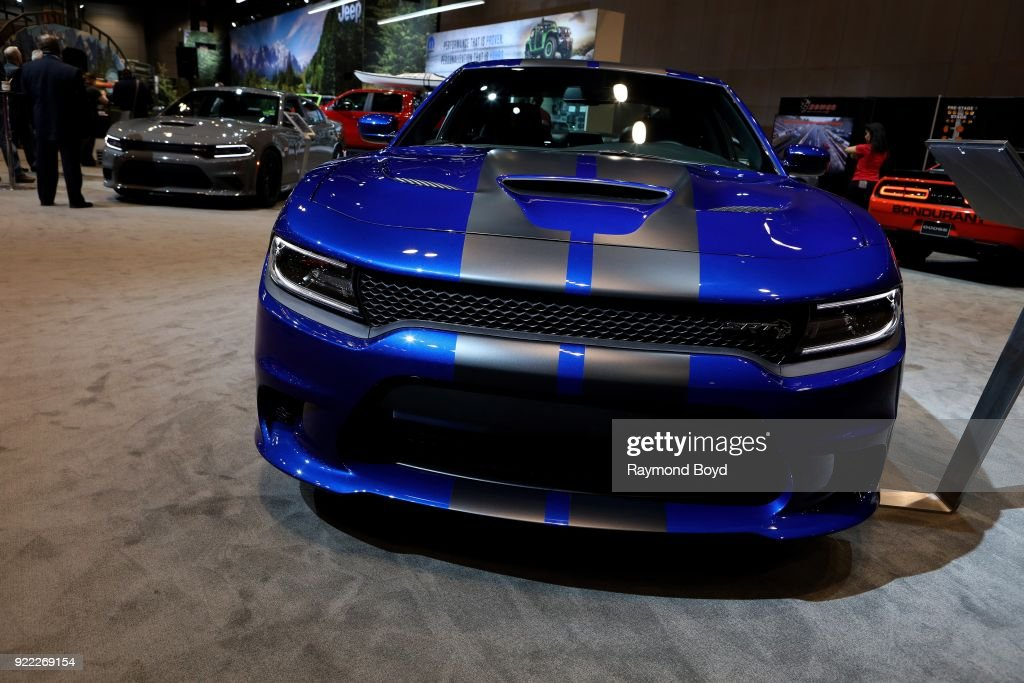 Dodge Charger SRT Hellcat is on display at the 110th Annual Chicago Auto Show at McCormick Place in Chicago, Illinois on February 9, 2018.