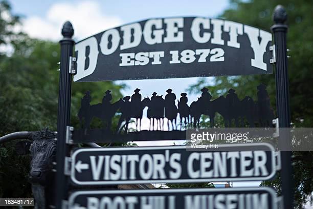 Dodge City Kansas welcome sign