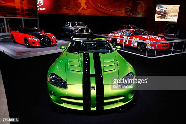 Dodge displays its SRT 10 Viper sports car during the twoday media preview of the Los Angeles Auto Show first major North American car show of the...