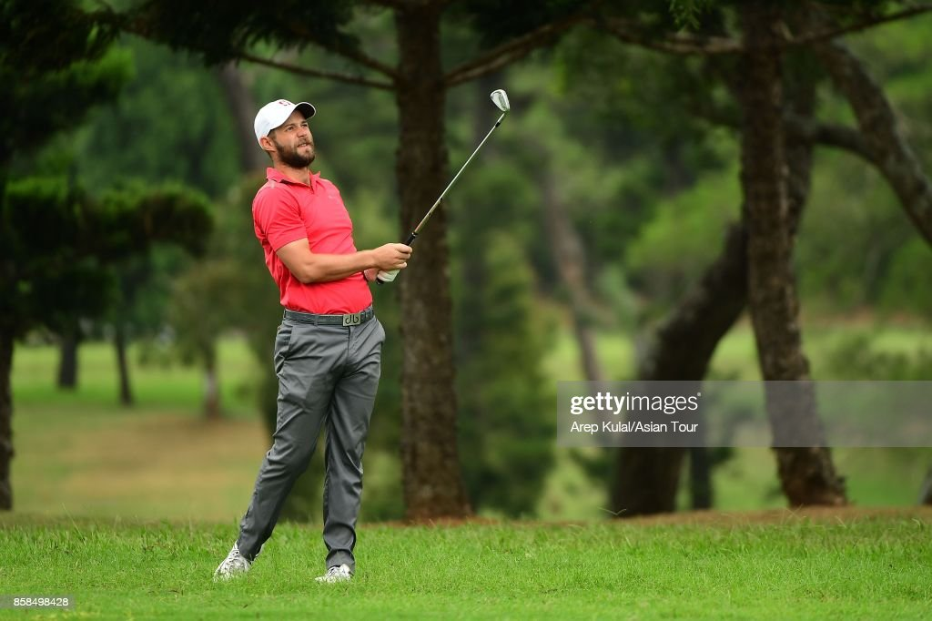 Dodge Kemmer of USA during round three of the Yeangder Tournament Players Championship at Linkou lnternational Golf and Country Club on October 7, 2017 in Taipei, Taiwan.