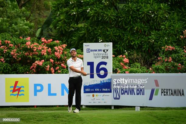 Dodge Kemmer of USA pictured during the first round of the Bank BRI Indonesia Open at Pondok Indah Golf Course on July 12 2018 in Jakarta Indonesia