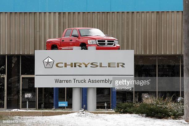 Dodge Ram sits on display at the Chrysler Warren Truck Assembly Plant in Warren Michigan US on Friday Dec 12 2008 General Motors Corp and Chrysler...
