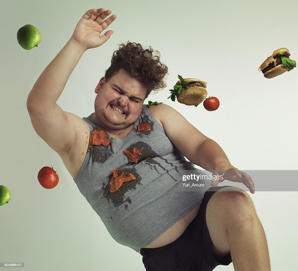 Dodge temptation - stick to your diet : Stock Photo
