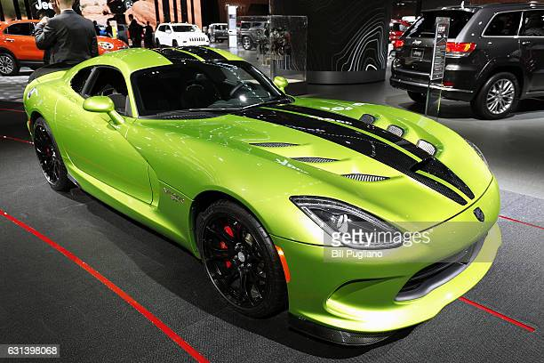 Dodge Viper is shown at the 2017 North American International Auto Show on January 10 2017 in Detroit Michigan Approximately 5000 journalists from...