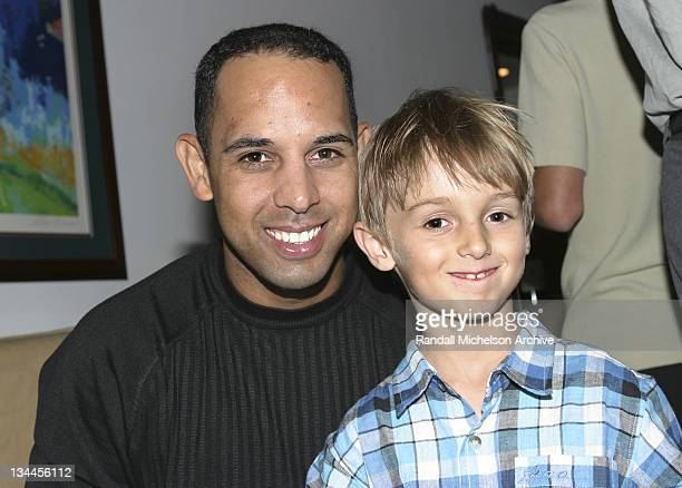 LA Dodger Alex Cora Daniel Salvay during Major League Baseball Players Trust Fundraising Event Hosted by Arnie Morton's The Steakhouse at Arnie...