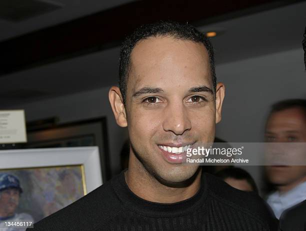 LA Dodger Alex Cora during Major League Baseball Players Trust Fundraising Event Hosted by Arnie Morton's The Steakhouse at Arnie Morton's The...