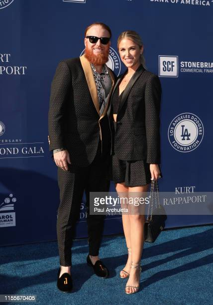 Dodger Justin Turner and Kourtney Pogue attend the 5th Annual Blue Diamond Foundation at Dodger Stadium on June 12 2019 in Los Angeles California