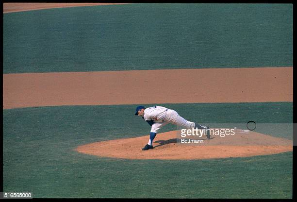 Dodger pitcher Sandy Koufax in action against the Minnesota Twins during the fifth game of the World Series Koufax hurled the Dodgers to a 70 shutout...