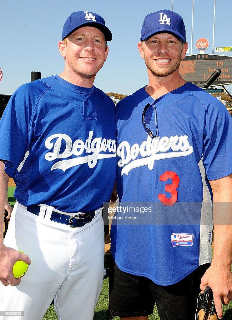 LA Dodgers 51st Annual Hollywood Stars Celebrity Softball Game : News Photo