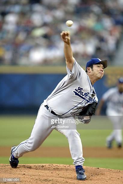 Dodger starter Hideo Nomo during LA Dogers v The Atlanta Braves - August, 1st 2003 at Atlanta Braves Stadium in Atlanta, GA, United States.