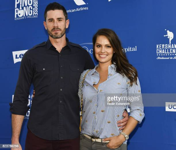 Dodgers baseball pitcher Brandon McCarthy and wife Amanda McCarthy attend the 5th Annual Ping Pong 4 Purpose on July 27 2017 in Los Angeles California